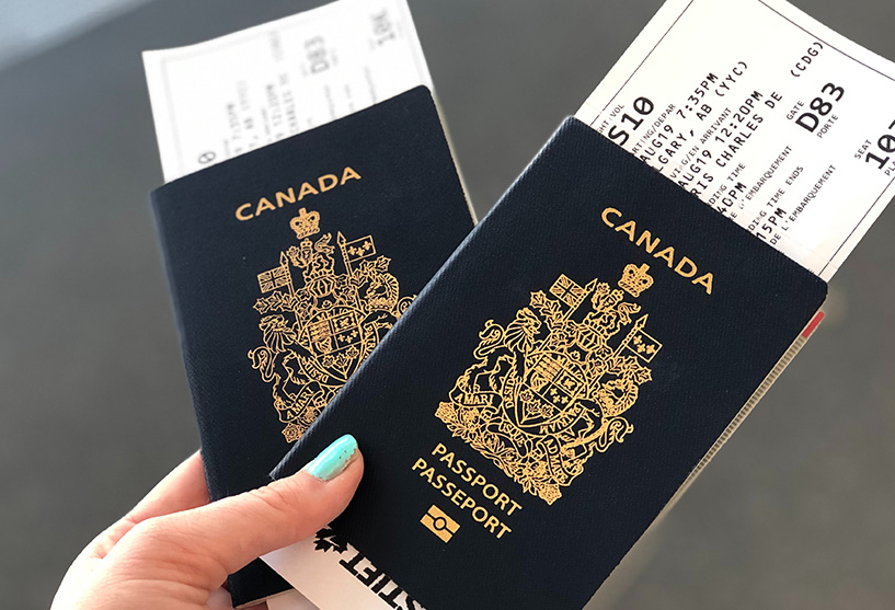 Canadian immigration passports